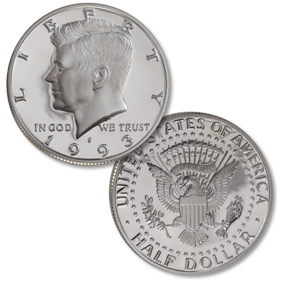 Image for 1993-S 90% Silver Kennedy Half Dollar from Littleton Coin Company