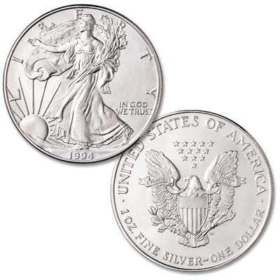 Image for 1994 $1 Silver American Eagle from Littleton Coin Company