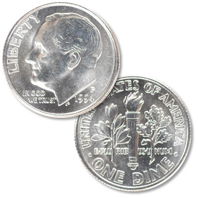 Image for 1994-P Roosevelt Dime from Littleton Coin Company
