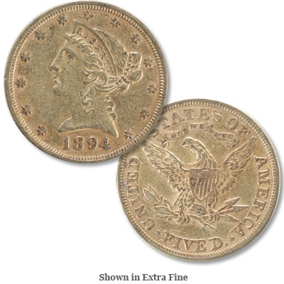 Image for 1894 Liberty Head $5 Gold from Littleton Coin Company