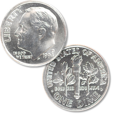 Image for 1994-D Roosevelt Dime from Littleton Coin Company