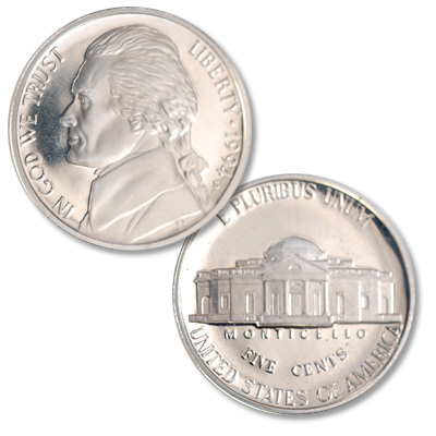 Image for 1994-S Jefferson Nickel Proof from Littleton Coin Company