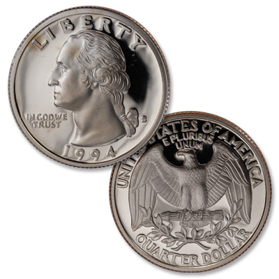 Image for 1994-S Washington Quarter from Littleton Coin Company
