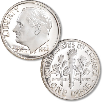Image for 1994-S 90% Silver Roosevelt Dime from Littleton Coin Company