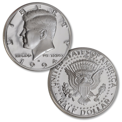 Image for 1994-S Kennedy Half Dollar, 90% Silver, Proof from Littleton Coin Company