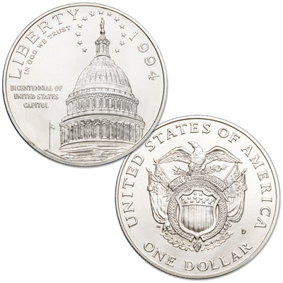 Image for 1994-D U.S. Capitol Bicentennial Silver Dollar from Littleton Coin Company