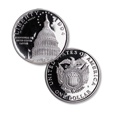 Image for 1994-S U.S. Capitol Bicentennial Silver Dollar from Littleton Coin Company