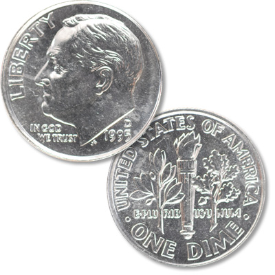 Image for 1995-D Roosevelt Dime from Littleton Coin Company