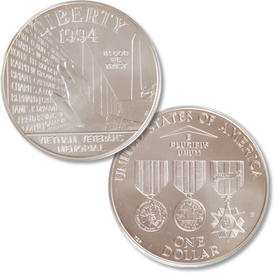 Image for 1994-W Vietnam War Veterans Memorial Silver Dollar from Littleton Coin Company