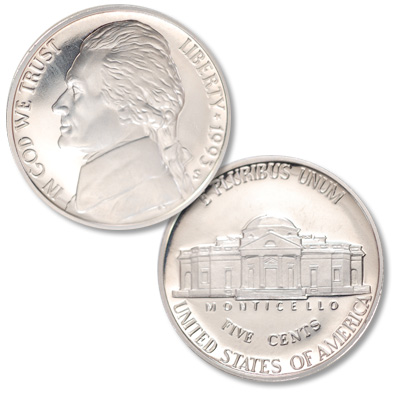 Image for 1995-S Jefferson Nickel Proof from Littleton Coin Company