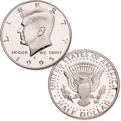 Image for 1995-S Kennedy Half Dollar, Clad, Proof from Littleton Coin Company