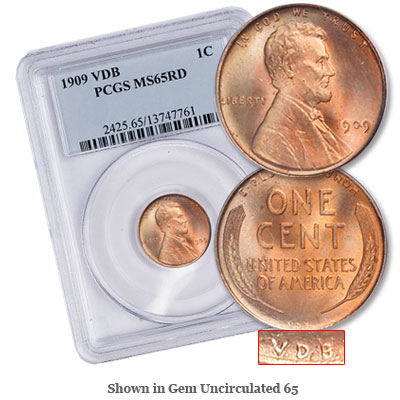 Image for 1909 VDB Lincoln Head Cent, Red from Littleton Coin Company