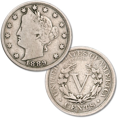 Image for 1889 Liberty Head Nickel from Littleton Coin Company