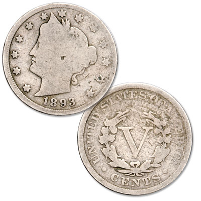 Image for 1893 Liberty Head Nickel from Littleton Coin Company