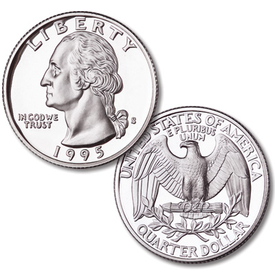 Image for 1995-S Silver Washington Quarter from Littleton Coin Company