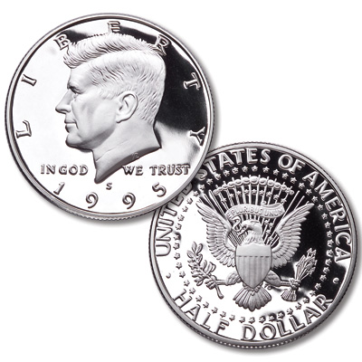 Image for 1995-S 90% Silver Kennedy Half Dollar from Littleton Coin Company