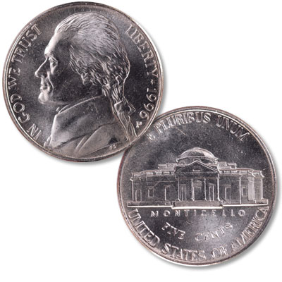 Image for 1996-P Jefferson Nickel from Littleton Coin Company