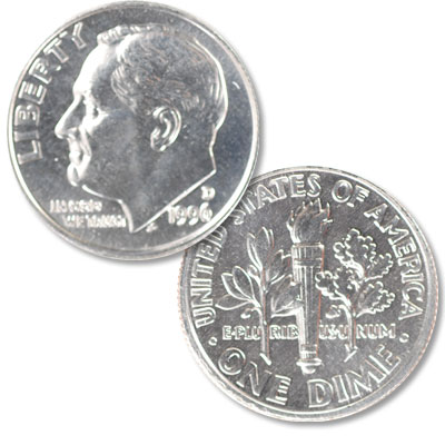 Image for 1996-D Roosevelt Dime from Littleton Coin Company