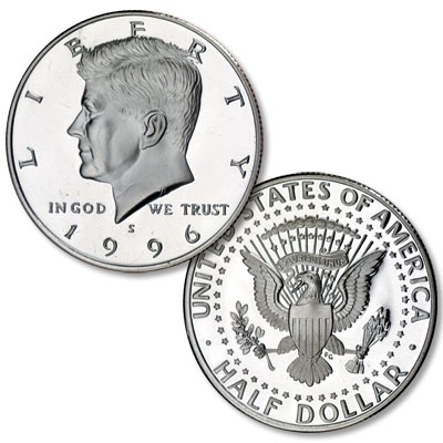 Image for 1996-S Kennedy Half Dollar, Clad, Proof from Littleton Coin Company