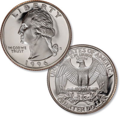 Image for 1996-S Washington Quarter from Littleton Coin Company