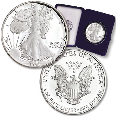 Image for 1986-S $1 Silver American Eagle, Choice Proof, PR63 from Littleton Coin Company