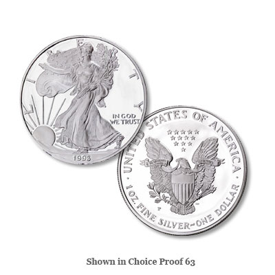 Image for 1993-P $1 Silver American Eagle, Choice Proof, PR63 from Littleton Coin Company
