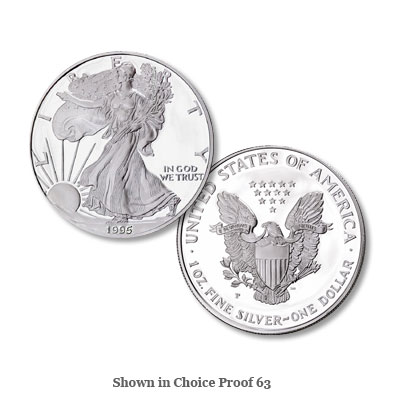 Image for 1995-P $1 Silver American Eagle, Choice Proof, PR63 from Littleton Coin Company