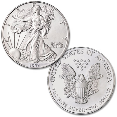 Image for 1997 $1 Silver American Eagle, Uncirculated from Littleton Coin Company