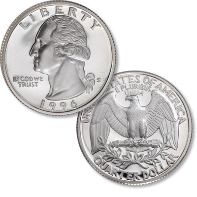Image for 1996-S Silver Washington Quarter from Littleton Coin Company