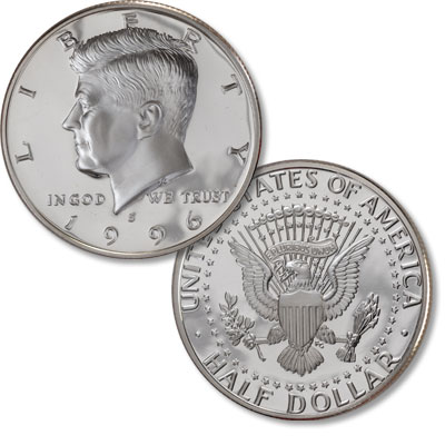 Image for 1996-S Kennedy Half Dollar, 90% Silver, Proof from Littleton Coin Company