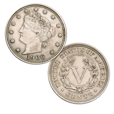 Image for 1906 Liberty Head Nickel from Littleton Coin Company
