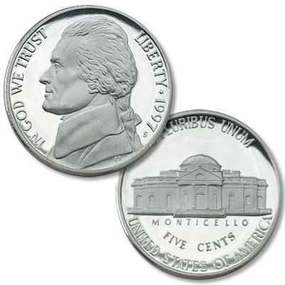 Image for 1997-S Jefferson Nickel Proof from Littleton Coin Company