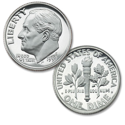 Image for 1997-S Roosevelt Dime from Littleton Coin Company