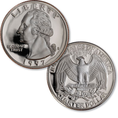 Image for 1997-S Washington Quarter from Littleton Coin Company
