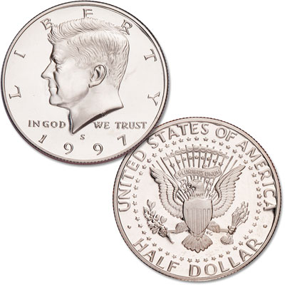 Image for 1997-S Kennedy Half Dollar, Clad, Proof from Littleton Coin Company