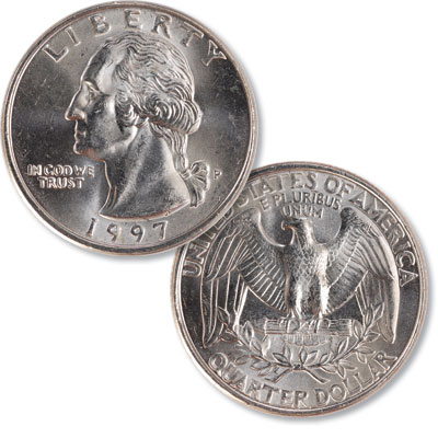 Image for 1997 Washington Quarter from Littleton Coin Company