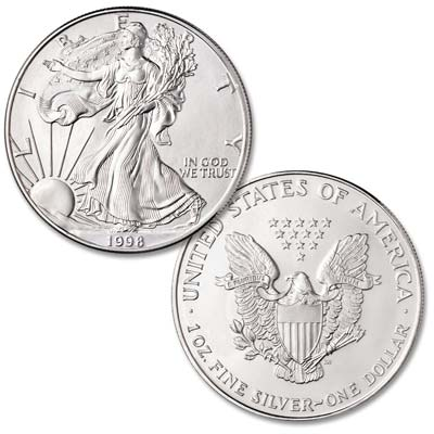 Image for 1998 $1 Silver American Eagle from Littleton Coin Company