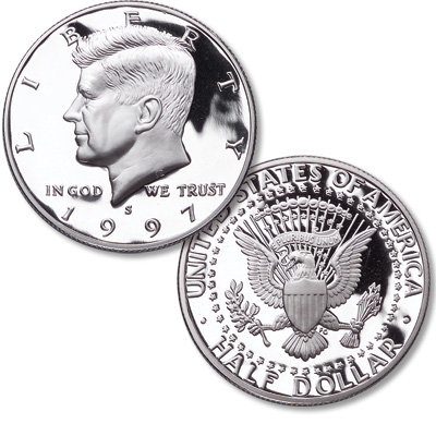 Image for 1997-S Kennedy Half Dollar, 90% Silver, Proof from Littleton Coin Company