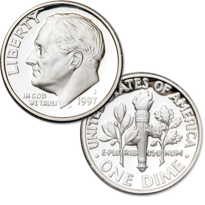 Image for 1997-S 90% Silver Roosevelt Dime from Littleton Coin Company