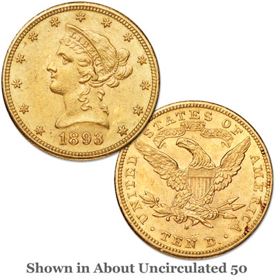 Image for 1893-S Liberty Head $10 Gold from Littleton Coin Company