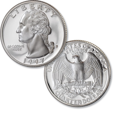Image for 1997-S Silver Washington Quarter from Littleton Coin Company