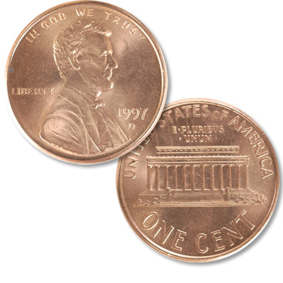 Image for 1997-D Lincoln Head Cent from Littleton Coin Company