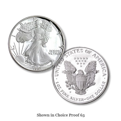 Image for 1997-P $1 Silver American Eagle from Littleton Coin Company