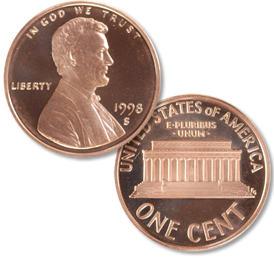 Image for 1998-S Lincoln Head Cent from Littleton Coin Company