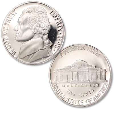 Image for 1998-S Jefferson Nickel Proof from Littleton Coin Company