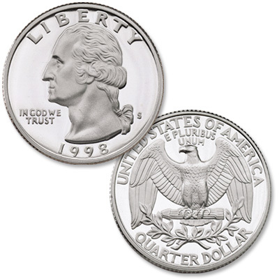 Image for 1998-S Washington Quarter from Littleton Coin Company