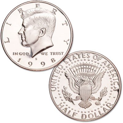 Image for 1998-S Kennedy Half Dollar, Clad, Proof from Littleton Coin Company