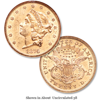 Image for 1876-S Liberty Head $20 Gold from Littleton Coin Company