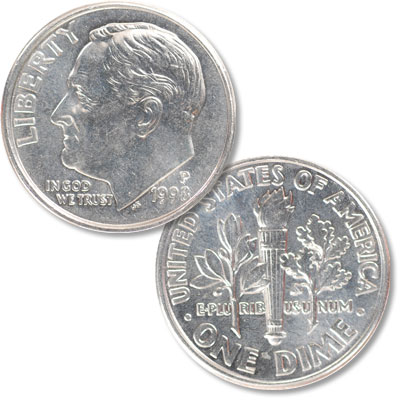 Image for 1998-P Roosevelt Dime from Littleton Coin Company