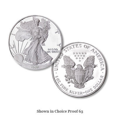 Image for 1998-P $1 Silver American Eagle from Littleton Coin Company